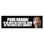 Poor Obama Sticker (Bumper)