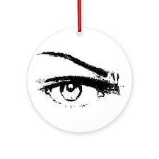 Eye Sketch Black Ornament (Round)
