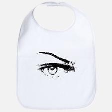 Eye Sketch Black Bib