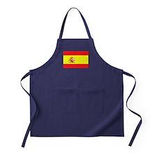 Spanish Flag spain yellow Apron (dark)