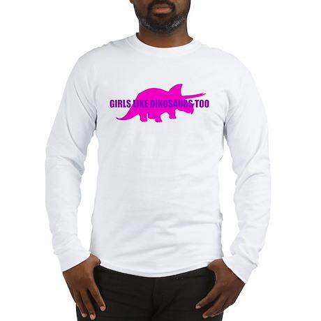 Girls Like Dinosaurs Too - Triceratops Long Sleeve