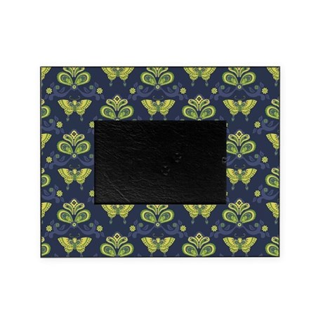Butterfly Asian Blue Picture Frame