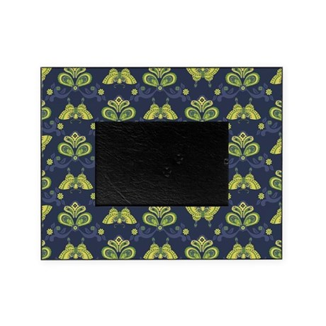 Butterfly Asian Navy Picture Frame