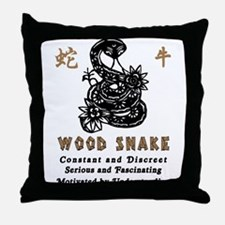 Year of The Wood Snake 1965 Throw Pillow