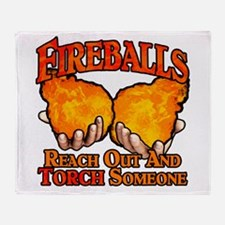 Fireballs Throw Blanket