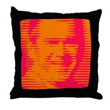 """BUSH-O-RAMA"" Psychedelic op-art Throw Pillow"