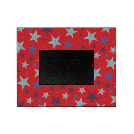 Stars Textured Red Picture Frame