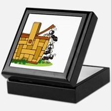 Ants Raiding a Picnic Basket Keepsake Box