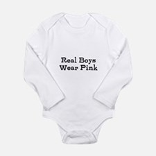 Funny Wear pink Long Sleeve Infant Bodysuit