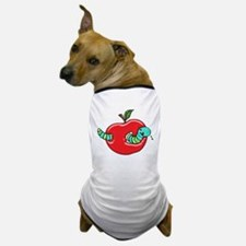 Apple and a Hungry Worm Dog T-Shirt