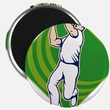 Cricket Bowler Bowling Ball Front Magnet
