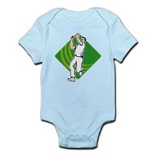 Cricket Bowler Bowling Ball Front Onesie