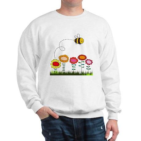 Bee Buzzing a Flower Garden Sweatshirt