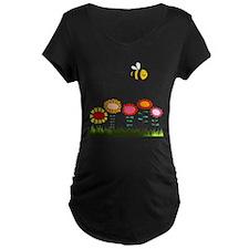Bee Buzzing a Flower Garden T-Shirt