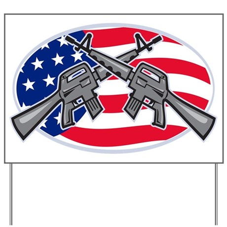 Armalite M-16 AR-15 Assault Rifle Yard Sign