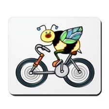 Bee on a Bike Mousepad