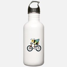 Bee on a Bike Water Bottle