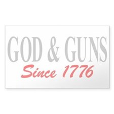 GOD and GUNS Bumper Stickers