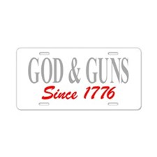 GOD and GUNS Aluminum License Plate