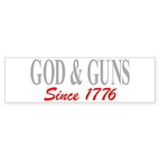 GOD and GUNS Bumper Stickers