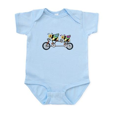 Bees on a Tandem Bike Infant Bodysuit