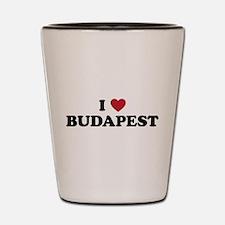 I Love Budapest Shot Glass