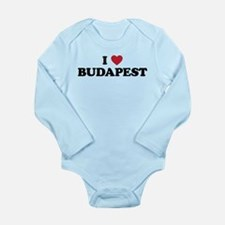 I Love Budapest Long Sleeve Infant Bodysuit