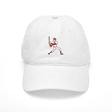 American Baseball Player Batting Cartoon Baseball Cap