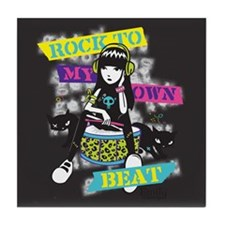 Rock To My Own Beat Tile Coaster