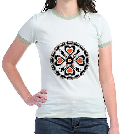 Philly Orange and Black Hex Jr. Ringer T-Shirt