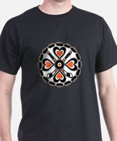 Philly Orange and Black Hex T-Shirt