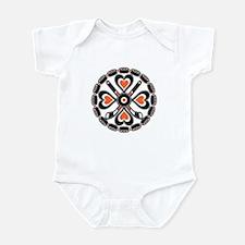Philly Orange and Black Hex Infant Bodysuit