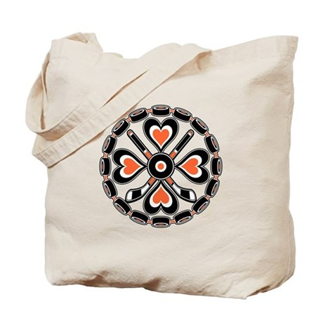Philly Orange and Black Hex Tote Bag