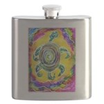 Abstract Turtle Flask