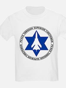 Israeli - Peace through superior firepower Kids T