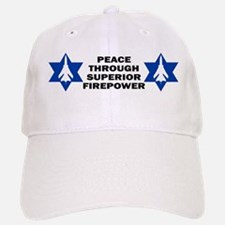 Israeli - Peace through superior firepower Baseball Baseball Cap