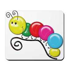 Shiny Caterpillar on a Twig Mousepad