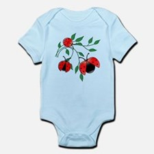 Delicate Ladybugs on Graceful Leaves Infant Bodysu