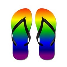 Rainbow Ombre Flip Flops