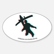 3D Freefall 1 Sticker (Oval)