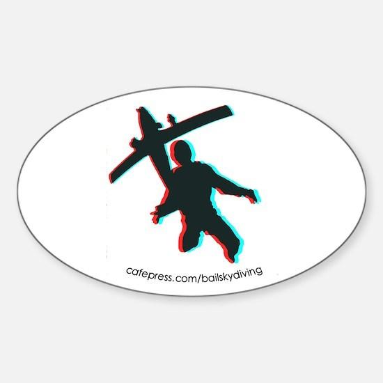 3D Freefall 1 Sticker (Oval)