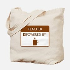 Teacher Powered by Coffee Tote Bag