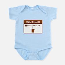 Swim Coach Powered by Coffee Infant Bodysuit
