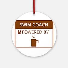 Swim Coach Powered by Coffee Ornament (Round)
