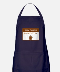 Swim Coach Powered by Coffee Apron (dark)
