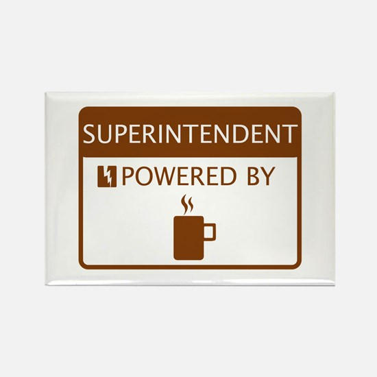 Superintendent Powered by Coffee Rectangle Magnet