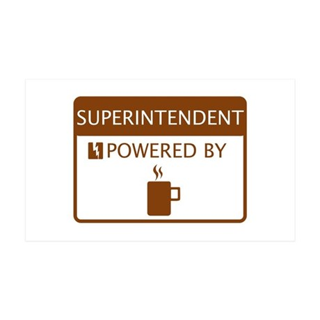 Superintendent Powered by Coffee 35x21 Wall Decal