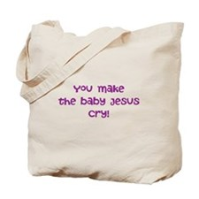 jesus crying Tote Bag
