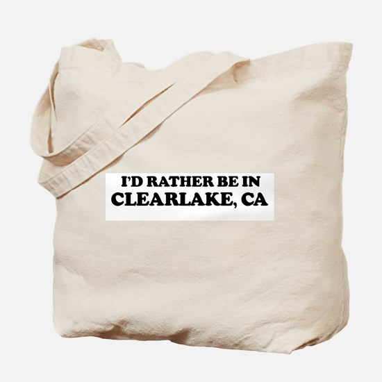 Rather: CLEARLAKE Tote Bag
