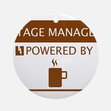 Stage Manager Powered by Coffee Ornament (Round)
